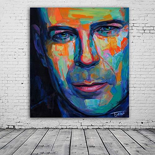Flduod Metalen blikken borden Che Guevara ijzeren schilderij Vintage garageposter huisbar koffie Decoratie canvas schilderij60x75cm