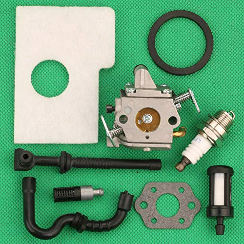 Replacement Parts for Huq Carburetor Air Filter Tune Up Kit for Stihl Ms180C 017 018C Ms170 Ms180 Chainsaw