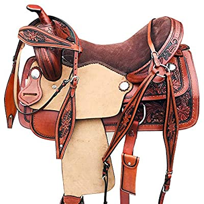 Western Horse Saddle Barrel Racing Trail Pleasure Leather Tack