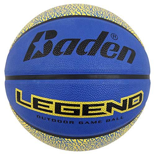 Baden Legend - Balón de baloncesto (goma), color Azul y dorado., tamaño Official Size-29.5'