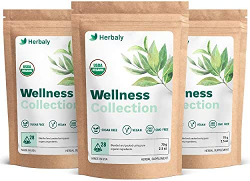 Herbaly Wellness Collection Tea supports healthy blood sugar inflammation response immune support product image