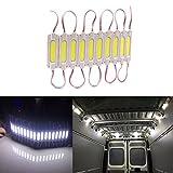 AZKQJ 10PCS LED White Interior Lights Ceiling Lights Kit For Van Boats Caravans Trailers Lorries Sprinter Ducato Transit LWB DC 12V