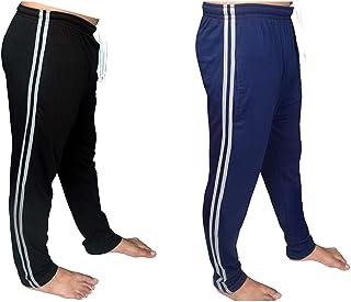 Bahob® 2 Pack Mens Long Lounge Wear Pants Nightwear Pyjama Bottoms Sleepwear Elasticated Waist Striped Jogging Casual Gym ...