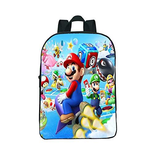LINGJIA Mochila Super Mary 12 Pulgadas Mario Bros por qué Tan Serio jardín de Infantes