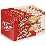 Nocilla Cookies - Galletas de Blanca, 12 Packs de 6 Unidades