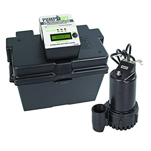 PumpSpy Technology PS1000 12V DC Battery Back-Up Sump Pump with Built-in Internet...