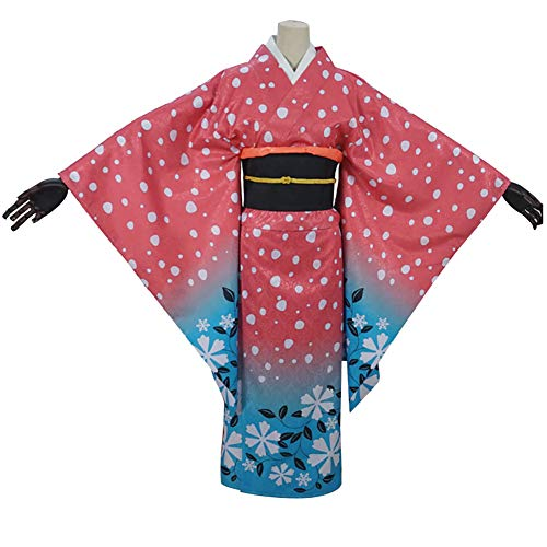 LJLis Yukata Japanese Traditional Kimono Partei Kleid Anime Cosplay Kostüm,S