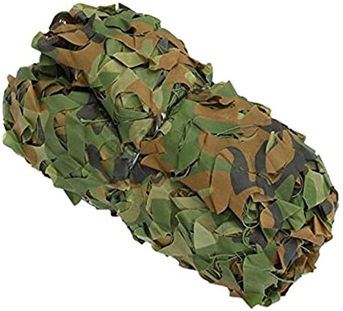 Wdsjxd Woodland Camouflage Netting Oxford Fabric Sunscreen Nets Lightweight Durable Reinforced Camping Military Hunting Shooting Hide Sun Shading Decorations-4M×4M
