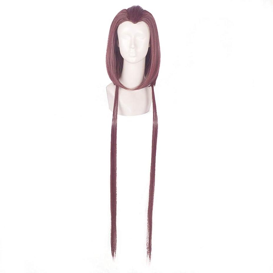 独裁者処分した腹BOBIDYEE 紫色の美しさのヒントかつらコスプレウィッグアニメキャラクター「冷たい煙ソフト」かつら合成髪レースかつらロールプレイングかつら (色 : 紫の)