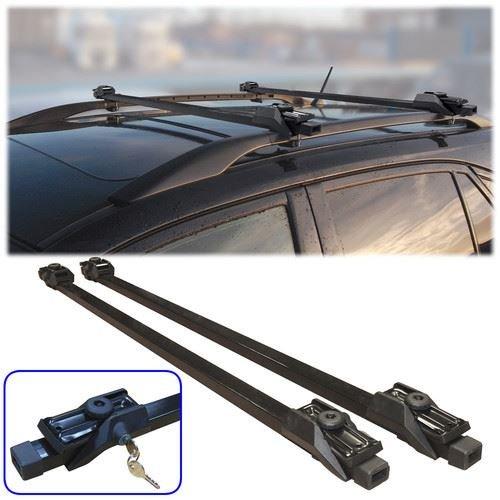 Fifth Gear - Barras de techo, barras portaequipajes para coche (universal, antirrobo, con cerrojo, incluye dos llaves)