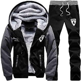 Maweisong Men's 2 Piece Set Velvet Hoodies Sweatshirts and Jogger