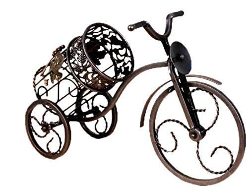 RTA Stilvoller Weinflaschenhalter aus Eisen, Fahrrad-Weinflaschenhalter