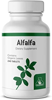 Graminex Alfalfa Tablets - Non-GMO Green Superfood Supplement with Vitamins, Minerals, Amino Acids - Supports Lower Choles...
