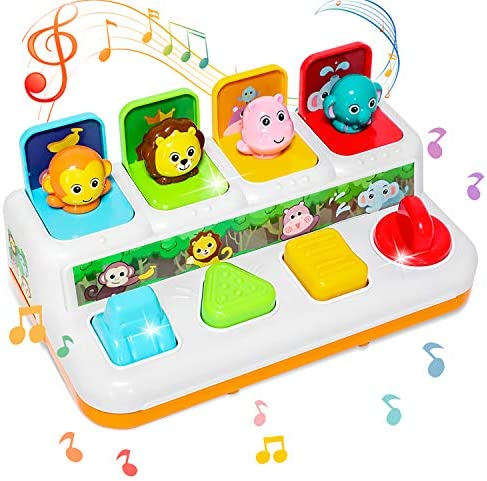 baccow Baby Toys 6 to 12 18 Months Musical Pop up Toys for 9 Months 1 Year Old Boys Girls Gifts product image
