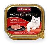 animonda Vom Feinsten Adult Katzenfutter, Nassfutter für ausgewachsene Katzen, mit Rind + Kartoffeln, 32 x 100 g