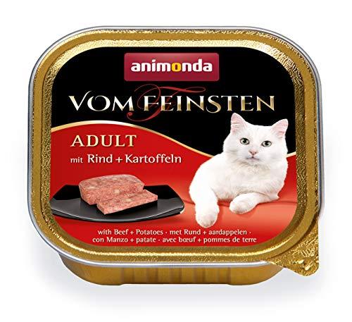 Nourriture pour chat Vom Feinsten Adult d'animonda, nourriture humide pour chat adulte, avec bœuf + pomme de terre, 32 x 100 g