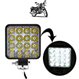 SHOOLIN Square 16 Led Bike Headlight/Car Headlight/Driving Lamp for Hero Splendor Pro