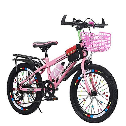 JHWX Bicicleta para Niños, Bicicleta para Niños Premium Sport Safety Bicicleta para Niños, para Niños De 4 A 10 Años, Bicicletas De Montaña De 20 Pulgadas para Niños Y Niñas,Rosado,24inch