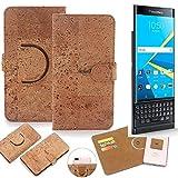 K-S-Trade® Handy Schutz Hülle Für BlackBerry Priv Korkhülle 1x