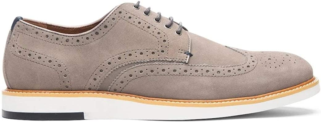 Blake McKay: Carson Men's Casual Shoe Leather Wingtip Oxford. Must-Have Hybrid Lace-Up with a Breathable Leather Lining and Durable Non-Slip EVA Wedge Sole for All-Day Comfort.