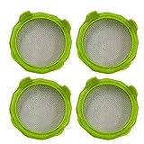 Kenyaw Tapa De Vidrio De Peldaño De 4 Piezas Hecha De Plástico, Tapa De Vidrio De Peldaño Tapa De Brote para Tarro De Conservas