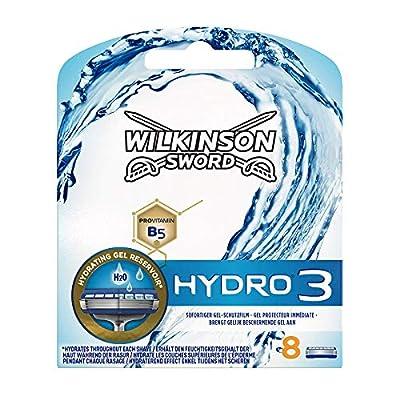 Wilkinson Sword Hydro 3 Razor Blades for Men Razors, 8 pcs from Energizer Group