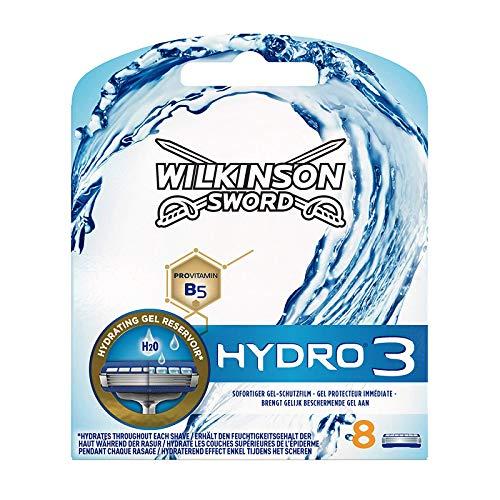 Wilkinson Sword Hydro 3 Rasierklingen für Herren, 8 Klingen, Rasierer, 8 Stück