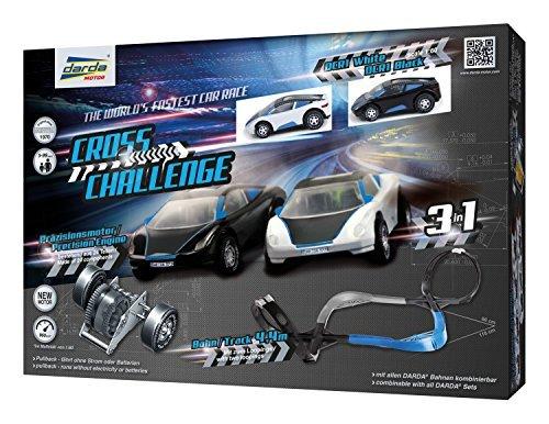 Darda Cross Challenge Race Track Playset, Silver/Blue/Black
