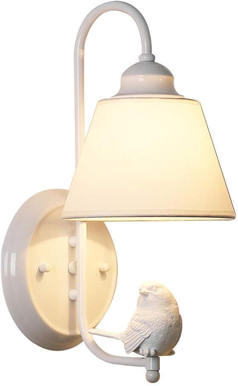 Postmoderne Eisen Wandlampen, Europische Kreative LED Stoff Beleuchtung Harz Dekorative Wandleuchte Moderne Schlafzimmer Wohnzimmer Esstisch Wandleuchte (Farbe   Weiß)