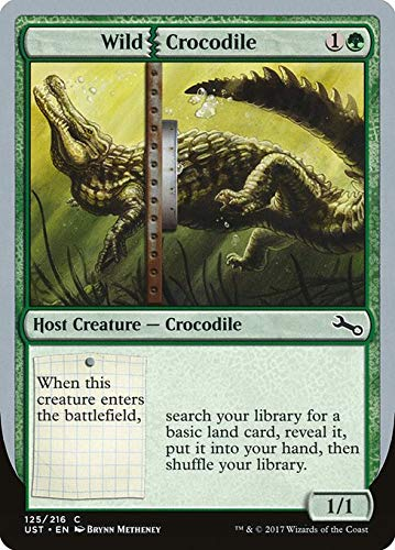 Magic: the Gathering MTG - Wild Crocodile - Unstable UST 125/268 Foil English