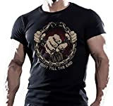 Men's Fashion MMA UFC Fighting Workout Motivation T Shirt
