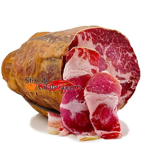 Capocollo Coppa Kalabrische Spezialität Mit heißen Pfeffer Chili Peperoncino Seasoned Italienische Spezialitäten Wurst Stück von 400gr
