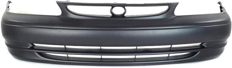 MBI AUTO - Primered, Front Bumper Cover Fascia for 1998-2000 Toyota Corolla Sedan 98-00, TO1000189
