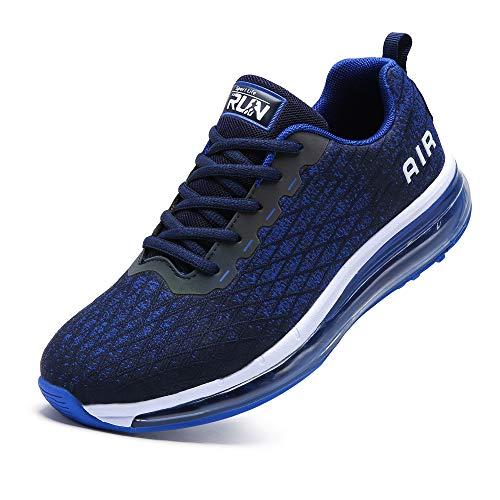 TORISKY Sneaker Herren Damen Sportschuhe Cushion Schuhe Laufschuhe Luftkissen Turnschuhe Fitness Gym Leichtes Bequem(8998-BL43)