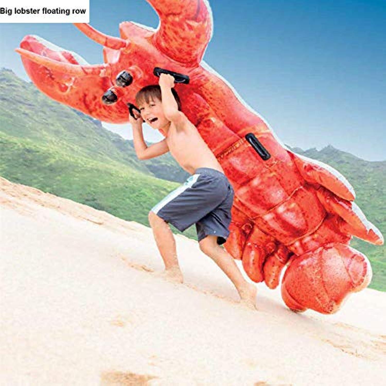 Y-Beach party Sommer Neue Groe Hummer Schwimmende Reihe Aufblasbare Spielzeuge, Erwachsene Wasser Schwimmende Liege Kinder Mit Griff Schwimmring, Strandparty Spielzeug - 213  137cm A