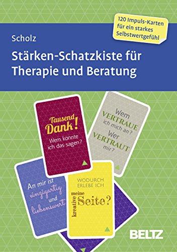 Stärken-Schatzkiste für Therapie und Beratung: 120 Karten mit 12-seitigem Booklet in stabiler Box, Kartenformat 5,9 x 9,2 cm (Beltz Therapiekarten)