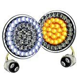 Akmties 2'' Bullet Style led turn signals Light Kit Compatible for dyna sportster street glide road king Motorcycle
