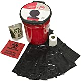 Emergency Zone Honey Bucket Style Toilet Complete Set with Liner and...