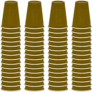 DecorRack 12 oz Disposable Plastic Cups, Solo Party Cups, Gold (60 Pack)
