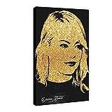 Celebrity Art Poster Emma Stone, Leinwand Poster