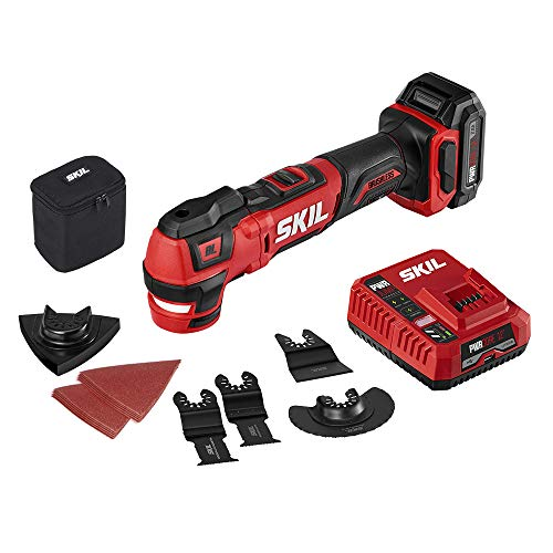 Great Deal! SKIL PWR CORE 12 Brushless 12V Oscillating Tool Kit with 40pcs Accessories, Includes 2.0...