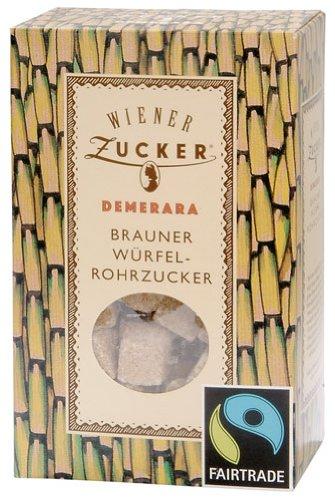 Fairtrade Wiener Zucker Demerara Würfel-Rohrzucker - 500gr - 2x