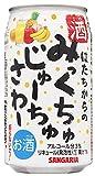 サンガリア みっくちゅじゅーちゅさわー [ チューハイ 350mlx24本 ]