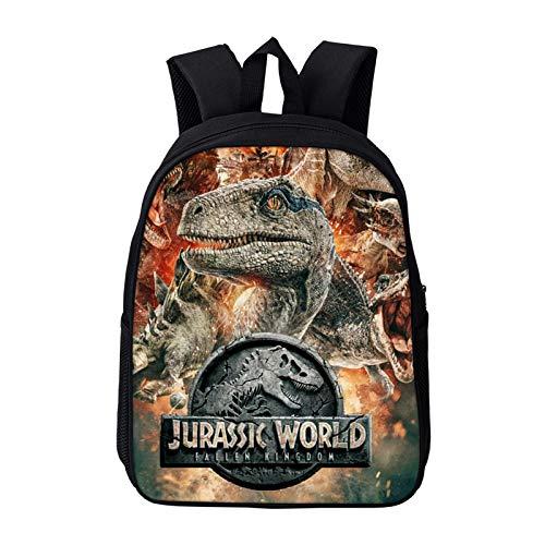 Mochila de dinosaurio, mochila de dinosaurio con estampado de animales, mochila de viaje para niños y niñas, mochila de vuelta a la escuela, bolsa escolar de dinosaurio de 16 pulgadas, color Dinosaur -15
