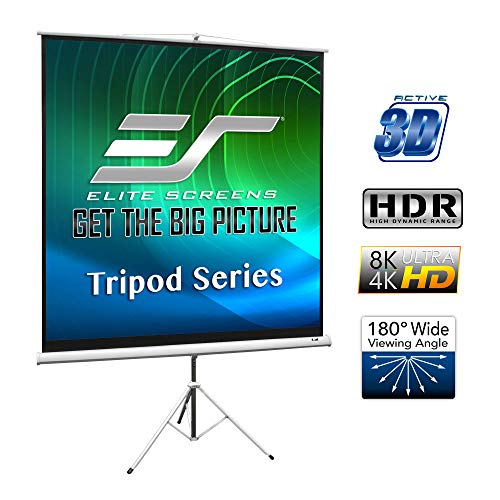 Elite Screens Stativleinwand Tripod Weiß 203 x 203 cm, 1:1 Format 113 Zoll, T113NWS1