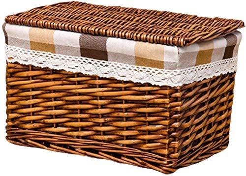cesta con tapa con efecto mimbre fabricante Wghz