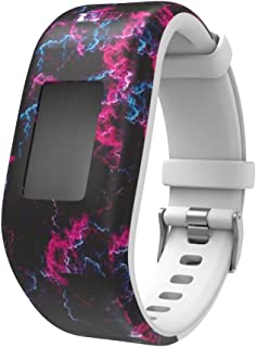 TERSELY Replacement Band Strap for Garmin Vivofit JR 3 Junior 2, Soft Silicone Metal Clasp Buckle Wrist Strap Watch Band B...