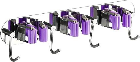 Kinnart 4/5 Haken Muur Opknoping Badkamer Balkon Mop Bezem Houder Organizer Opbergrek, Kleine RVS Wandhaken voor Sleutels ...