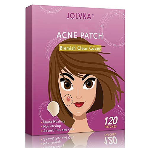 JOLVKA Akne Pickel Patch (120 Patches), Hydrocolloid Pimple Pickel pflaster (2 Sizes), Gemacht fürEinzelne Pickel