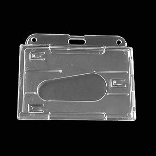 Porte-badge d'identification en plastique rigide PC double face transparent